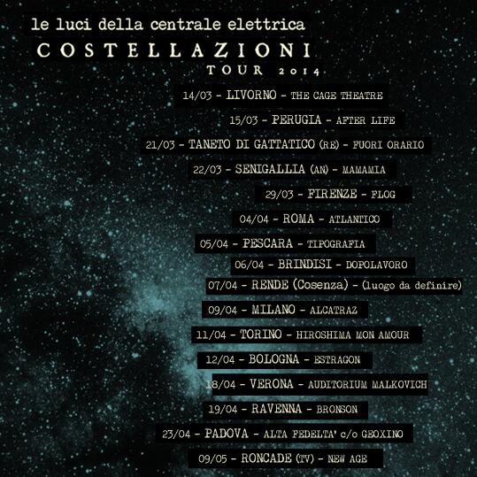COSTELLAZIONI TOUR ★! http://t.co/0x6Mafvufx