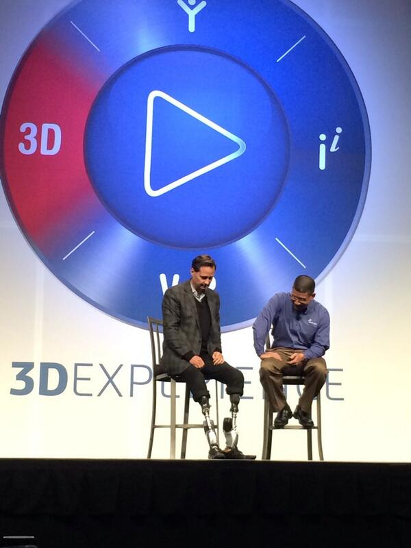 Hugh Herr of #MIT talking with Rich Cho...most fascinating SolidWorks customer story in recent memory!! #SWW14 http://t.co/jHVMHE20w5