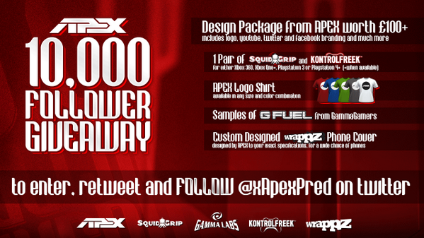 GIVEAWAY: WIN HUGE GRAPHICS AND GAMING ACCESSORIES BUNDLE, RT and FOLLOW to Enter! #APEX10K http://t.co/Ik9xrGGog0