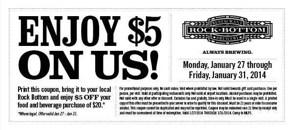 rock bottom coupons