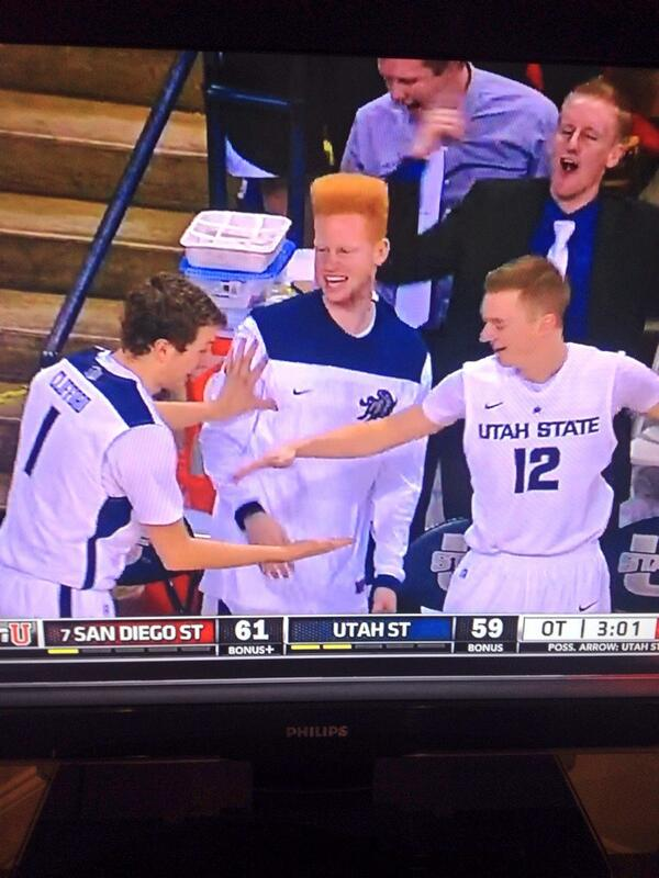 What's the big story in College Hoops? The freshman? Unbeaten teams? What about the hi top fade on my boy at Utah St http://t.co/HXM0HCSml0