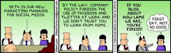 """Ha! RT @jeremywaite Summing up """"Community Manager Appreciation Day"""" with a bit of @DailyDilbert action #CMAD http://t.co/PDo4c7NDkl"""