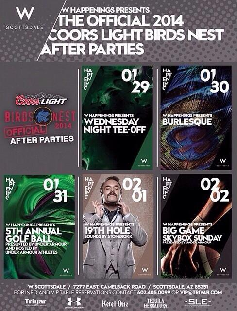 This week is the start of the greatest 3 months in AZ; #WMO after parties galore! Here's @WScottsdale's lineup: http://t.co/bsek21UF4W