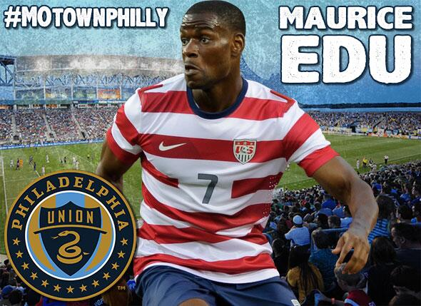 DONE DEAL: @philaunion land @MauriceEdu via loan with option to purchase. More: http://t.co/XszucDdcb3 http://t.co/Lo74Jj3v4E