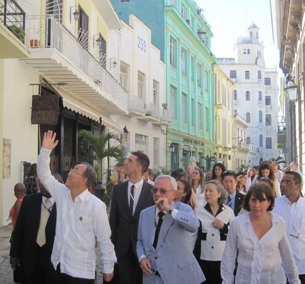 Secretary-General Ban Ki-moon in Cuba