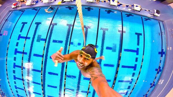 Just Hanging out... from the Rafters! @SpeedoUSA @SwimMacElite  (pic cred @Roy_Burch) http://t.co/YTnmL1hLHv