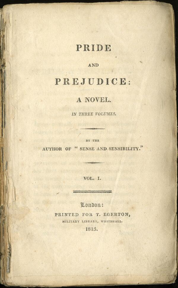 Happy birthday PRIDE AND PREJUDICE! You were published 200 years ago today and you're still looking fine! http://t.co/nKOoEmt2pA
