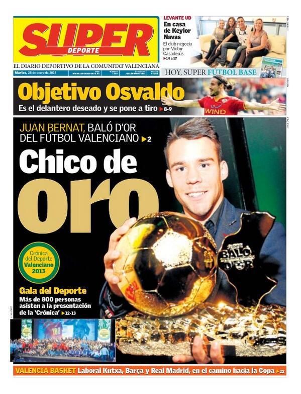 Juventus & Valencia are battling it out for Southampton bad boy striker Osvaldo [Superdeporte & Tuttosport]