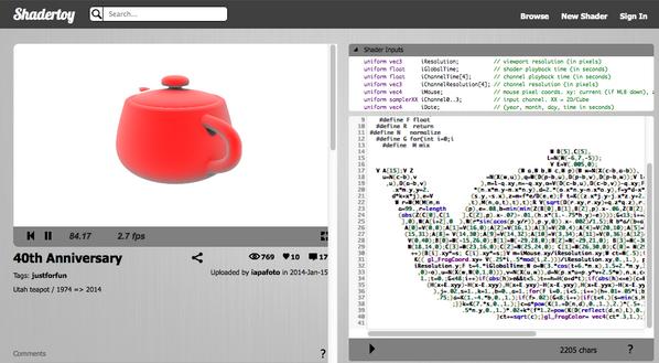 Utah teapot (適度な複雑さとトポロジーを持っているためCGのサンプルモデルとしてよく使われる)が 40周年らしいんだけど、さすがにこれはやり過ぎかと思った(笑 http://t.co/GqEGSNdTgZ http://t.co/T7wqFwkZhL
