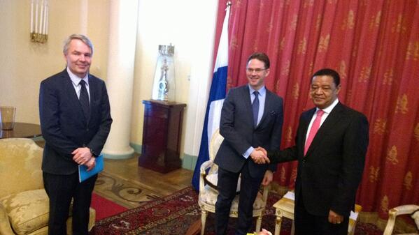 """#Katainen & @Haavisto Etiopian presidentille: """"Kehitysyhteistyö erinomainen pohja yritystemme toiminnalle Afrikassa."""" http://t.co/iVKOzB40R6"""