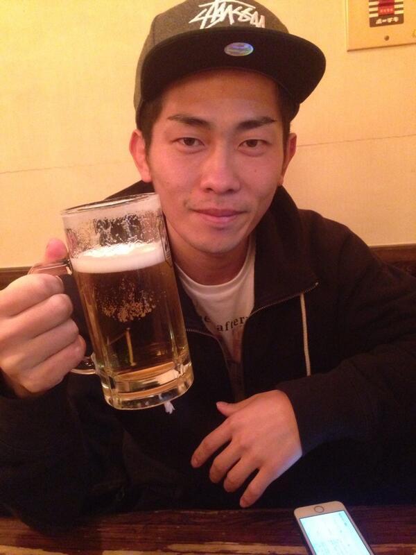 今日も一日お疲れ様でした!締めの一杯!明日も皆さんよろしくお願いします。 http://t.co/qxJbtX405h