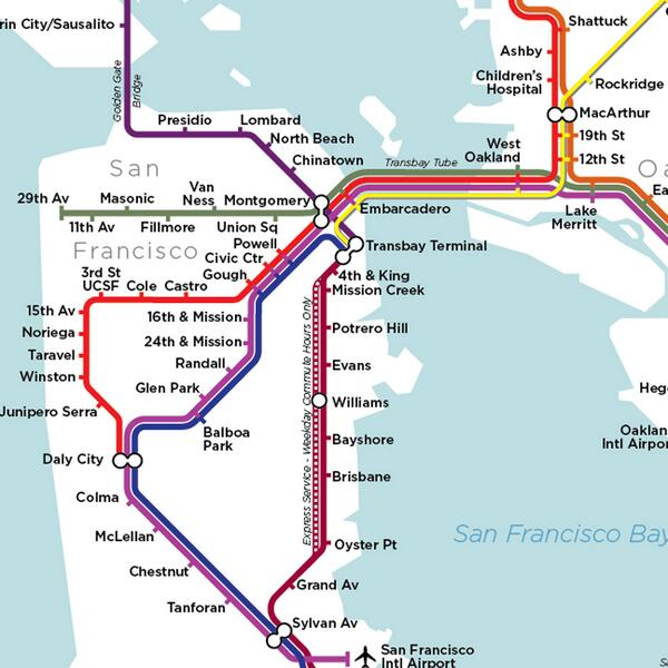 Sf Subway Map.Wired On Twitter From San Francisco To Chicago To New York Here