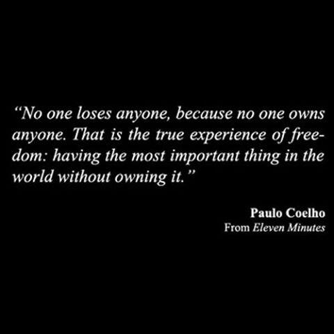 Nobody loses anyone, because nobody owns anyone #11Minutes