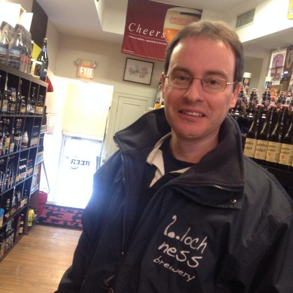 A pleasure to welcome Stephen from @lochnessbrewery in to #TheMothership. Any Scottish beer fans out there? http://t.co/vB5AVf4Ljq