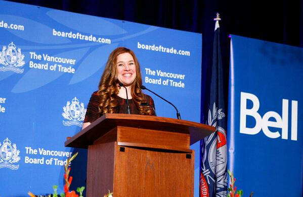 Olympian @ClaraHughes_ was the keynote at #VBOT's Mental Health Forum 2011. Support her today by using #BellLetsTalk! http://t.co/RJ2gwhhTJG