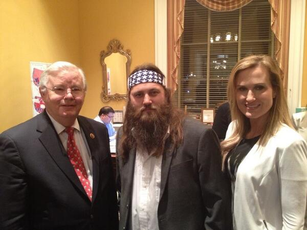 Typical guest & his wife before #SOTU! #DuckDynasty @bosshogswife @BigBoss @williebosshog #txcot #txgop #dfw http://t.co/h8gYMEJ2qY