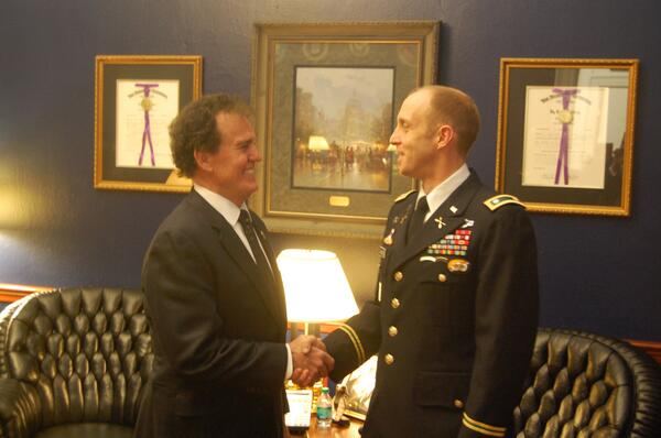 Proud to have Lt Col Adam Kimmich from Kennesaw GA as my guest at tonight's speech. #ArmyStrong  #SOTU #PJNET http://t.co/zQkqGbsfDU
