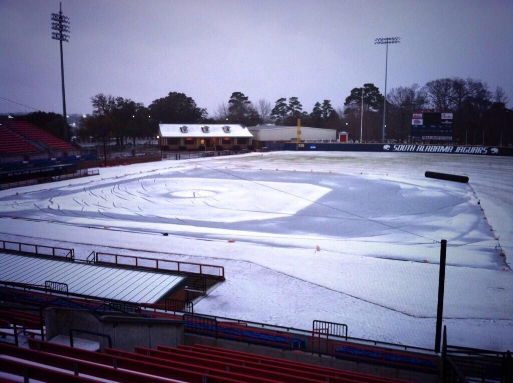 Winter storm hits US South, Jan. 28-29, 2014
