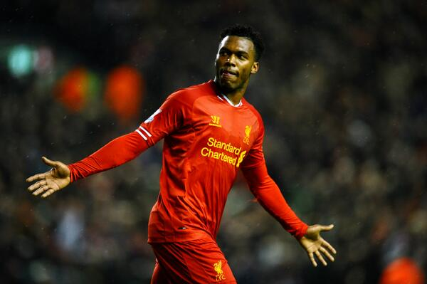 Daniel Sturridge scores 2 goals in 2 minutes to put Liverpool 3 0 up v Everton [GIFs]