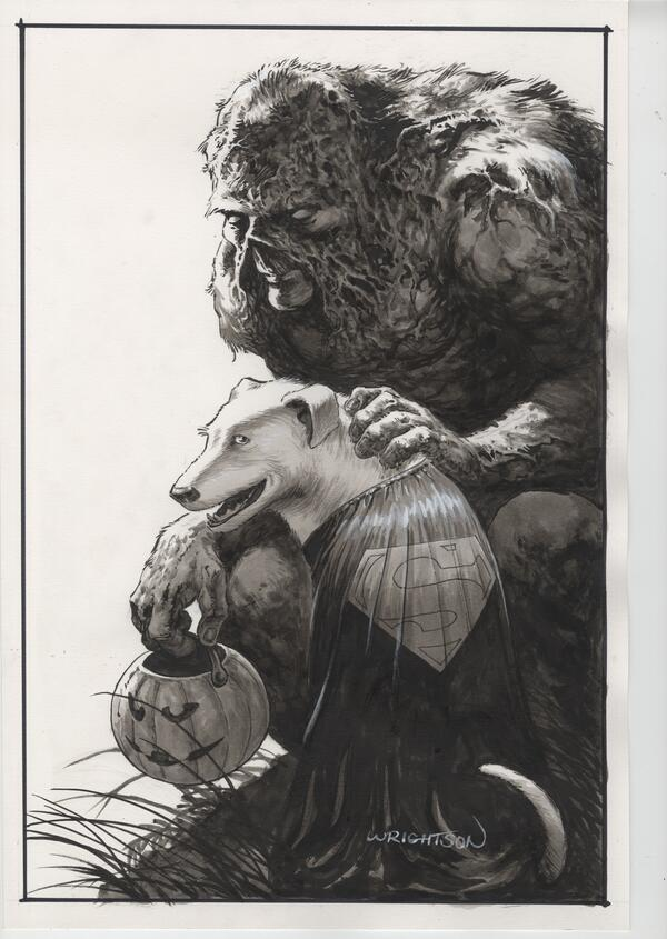 Bernie did this amazing Swamp Thing & Sonny. http://t.co/5dkfve1XdV