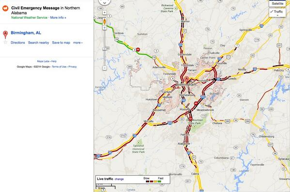 The Weather Channel On Twitter Birmingham Traffic Is Also Ruined