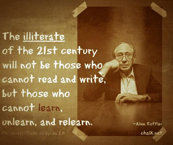 for #rhizo14 RT @TXPrincipal: Unlearn and relearn... http://t.co/2xRdXF4NfH