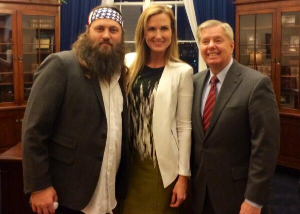 Proud to provide my guest ticket to tonight's SOTU to Korie Robertson. #DuckDynasty @bosshogswife http://t.co/UKSGePeHry