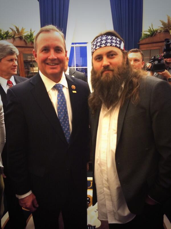 Willie Robertson in the House (of Representatives)! Guest of my friend @RepMcAllister for #SOTU @williebosshog http://t.co/fPXmPRcpKv
