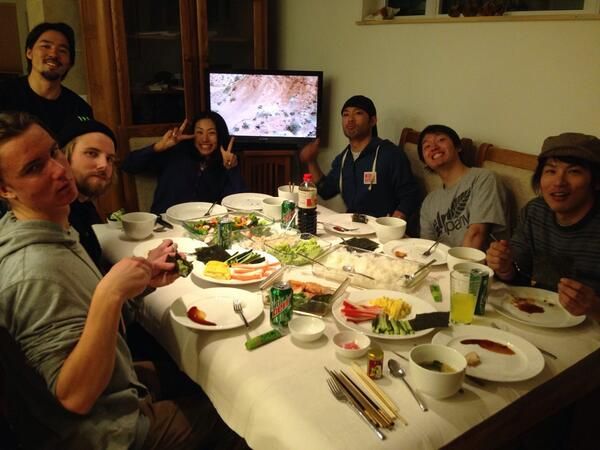 Fantastic #Sochi send off dinner in Breckenridge with Team Japan & Team New Zealand. Home made sushi = the best. http://t.co/R4cztHHdvB