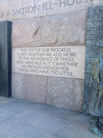"FDR got it. Income inequality diminishes opportunity ""Access to a good job"" #DukeChat #SOTU http://t.co/783Ltw3zVE"