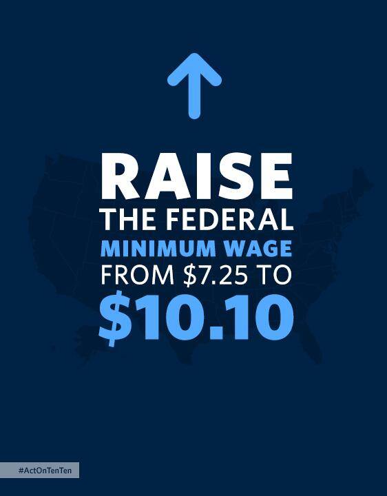 "Obama to Congress: ""Join the rest of the country. Say yes. Give America a raise."" #ActOnTenTen #RaiseTheWage, http://t.co/iYWuA5yaDy"