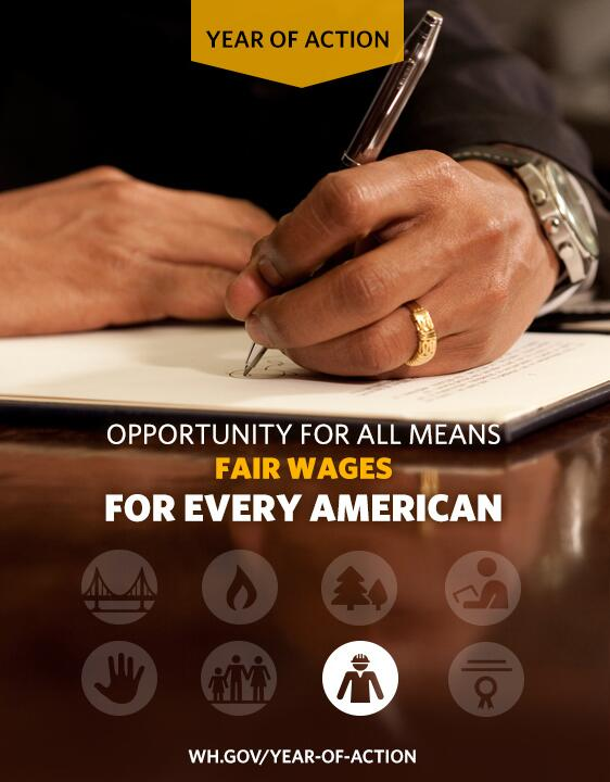 "Obama: ""No one who works full time should ever have to raise a family in poverty."" #RaiseTheWage, http://t.co/ImkNqwN2io"