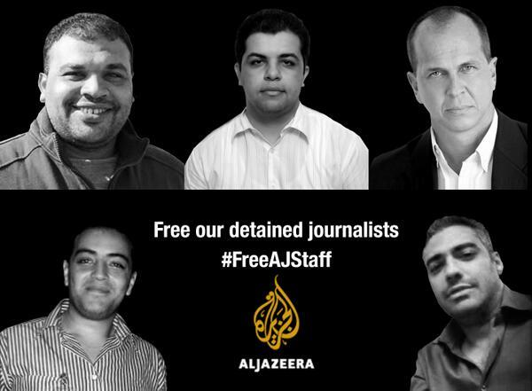 Five Al Jazeera journos and producers still in jail. Egypt must release them #FreeAJStaff http://t.co/N0v2lVVwTy