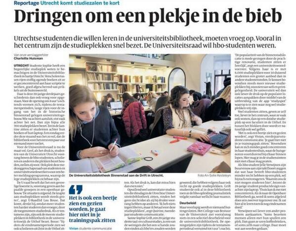 Universiteitsbibliotheek Utrecht aan de Drift