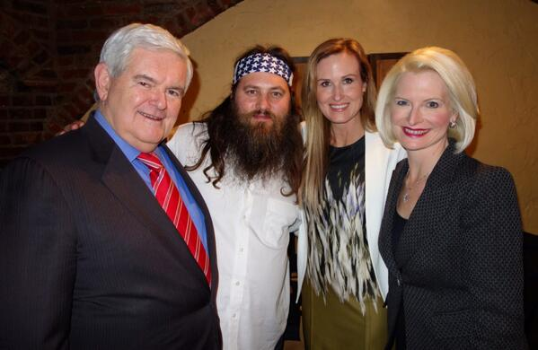 @newtgingrich and I enjoyed visiting with @williebosshog and @bosshogwife tonight after SOTU. http://t.co/592ymQZ4m7