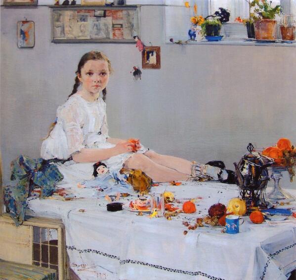 Николай Фешин «Портрет Вари Адоратской» ニコライ・フェーシン『ヴァーリャ・アドラツカヤの肖像』 (1914)