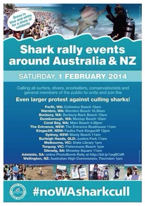 WA Govt's Catch & Kill Policy lacks logic & heart. Pls spread the word abt these #NoWASharkCull rallies this sat(PIC) http://t.co/QWoYHd0H3l