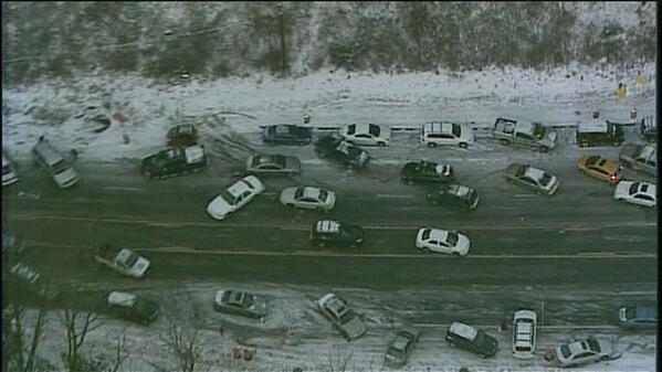 """Atlanta looks like the aftermath of a Zombie Apocalypse after 2"""" of Snow + Ice http://t.co/nQxGfSUh7m rt @WCL_Shawn @RamCNN @rbakercnn"""