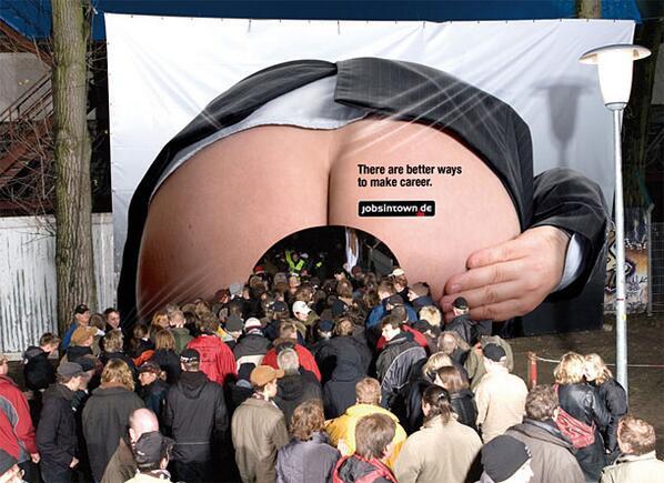 MT @Amscreen_Simon: Interesting billboard advert for a Germany Recruitment Website #advertising #ooh http://t.co/eiP3lniLfx