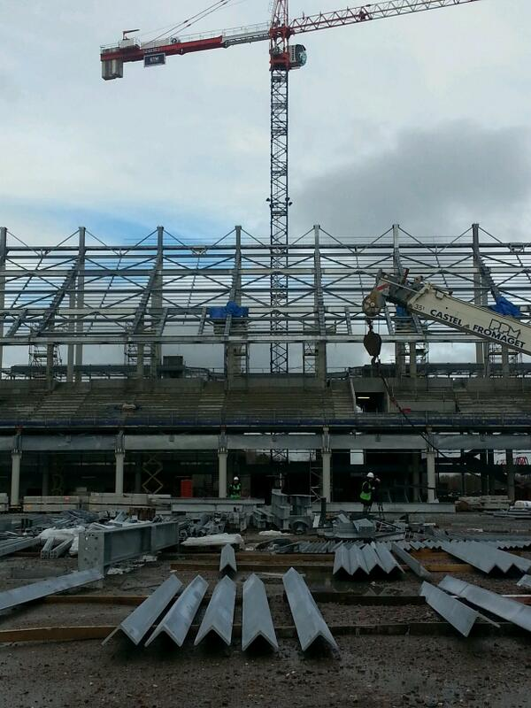 Le chantier du nouveau stade sous tous les angles !