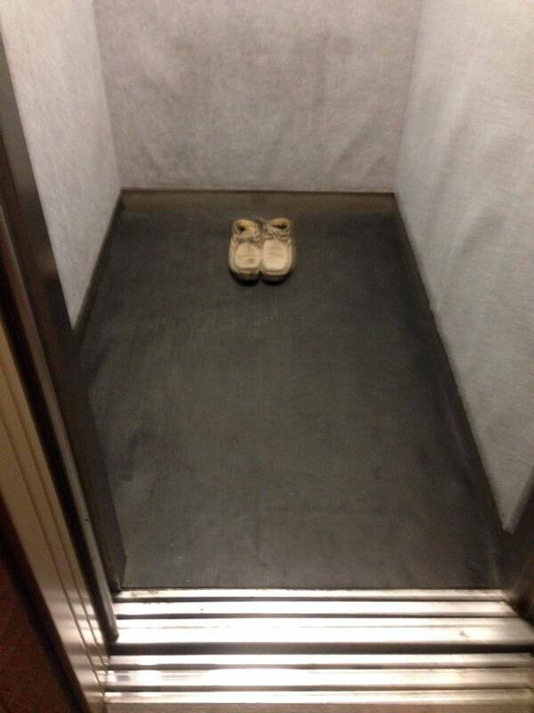 うちのエレベーター超びびったし(笑) pic.twitter.com/q4kpXBjAIu