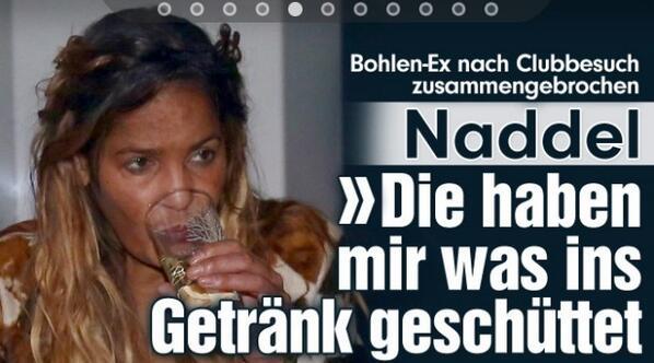 Besoffen naddel Naddel: Alkohol