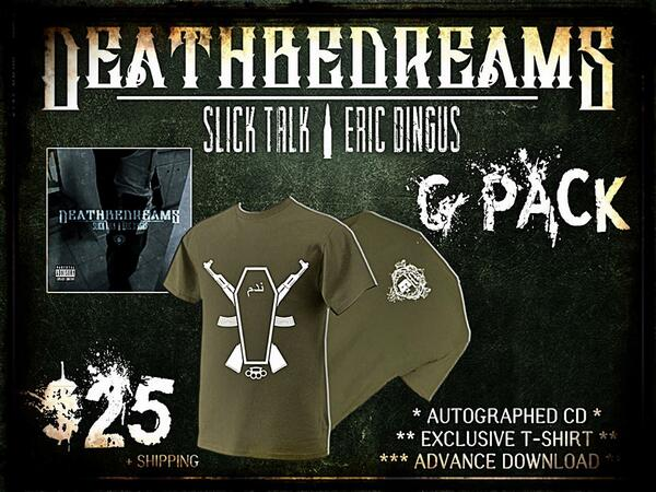 "@SlickTalk x @ericdingus  - deathebeDreams ""G-Packs"" now available for pre-order at < http://t.co/dbbnhLalfV  > http://t.co/y74Un7usmU"