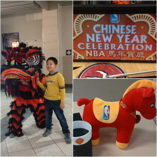 Proud to be one of 10 teams celebrating Chinese New Year tonight! All the best in the Year of the Horse. #RTZ http://t.co/R7q4ZQmtZK