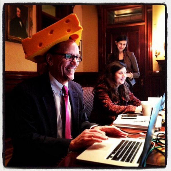It's Big Block of Cheese Day at the @WhiteHouse — and @LaborSec is answering your questions. #AskTheWH #DontSwissOut http://t.co/Stx9rBTbho