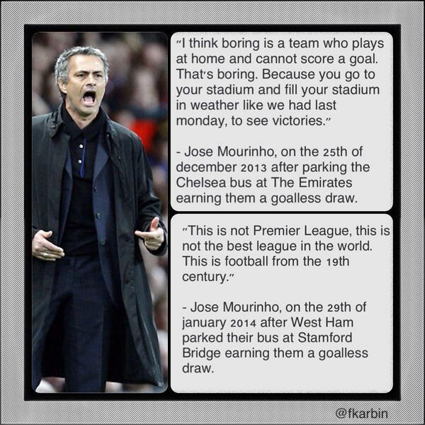 Arsenal fans point out that Chelsea boss Jose Mourinho is a MASSIVE hypocrite
