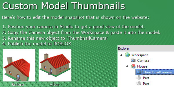 Roblox Dev Tips On Twitter Set Up A Custom Thumbnail To Make Your