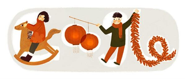 Today's Chinese New Year Google doodle is adorable! http://t.co/R2QUFuLFdk