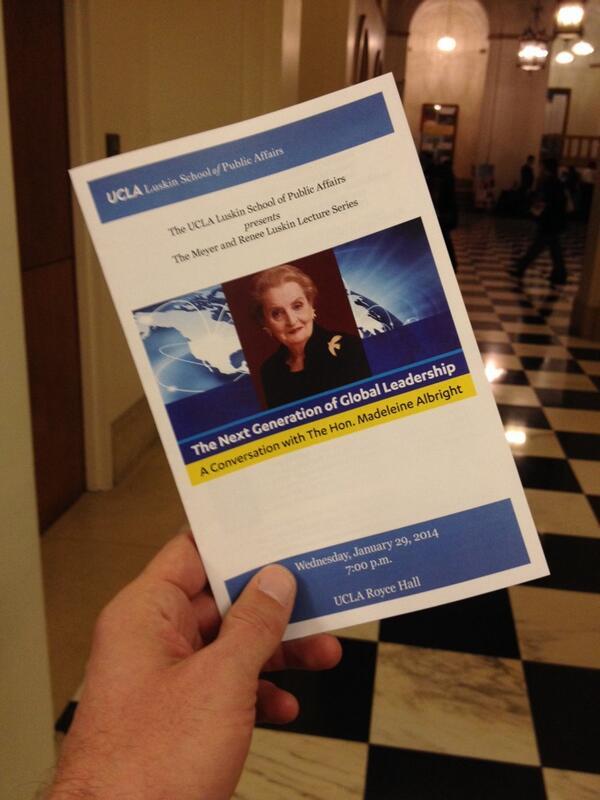 Thumbnail for Madeleine Albright Speaks at UCLA Luskin