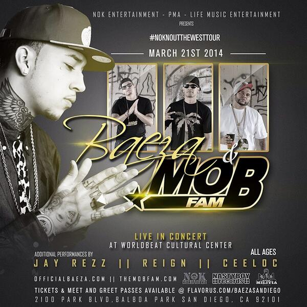 3/21 We Live In #SanDiego #California wit @OfficialBaeza @MOBFAM & More S/o @UMPA_NOK  #NOKNOCKOUTTHEWESTTOUR #MobUp http://t.co/GtktiMf4Oz
